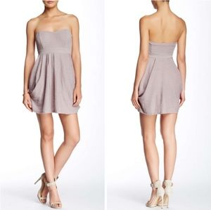 Free People Champagne Combo Nyima Strapless Dress